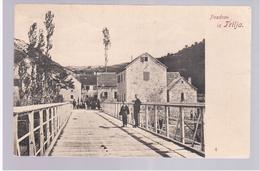 CROATIA Trilj Pozdrav Iz Trilja Ca 1900 OLD POSTCARD 2 Scans RARE - Croatia