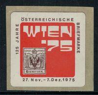 """Vignette Autrichienne """"Wien 75"""" - Erinnophilie"""
