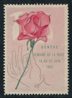 Vignette Suisse , Genève, Semaine De La Rose 1952 - Erinnophilie