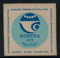 Erinnophilie Vignette De Finlande, Nordia 1975 - Erinnophilie