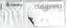 """Lettre Déteriorée """"Deteriorado En Este Servicio"""" Dans Emballage En Plastique Transparent De La Poste Espagnole 17/7/2018 - Espagne"""