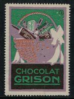 """Suisse // Schweiz // Switzerland // Erinnophilie  //  Vignette Publicitaire """"Chocolat Grison"""" - Erinnophilie"""