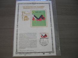 "BELG.1978 1911 FDC Carte D'or ,soie FR. N°002/400 Ex  : ""De Koninklijke Vlaamse Ingenieursvereniging "" - 1971-80"