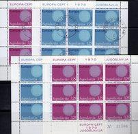 Sonne Für EUROPA 1970 Yugoslavia 1379/0 KB **/o 18€ Flechtmotiv Symbol Kooperation CEPT Ss Sheetlets Bf JUGOSLAVIJA - Blocs-feuillets