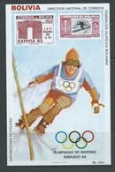 Bolivia 1984 Sarajevo Olympic Games Slalom Miniature Sheet MNH - Bolivie