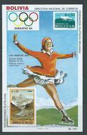 Bolivia 1984 Sarajevo Olympic Games Skater Miniature Sheet MNH - Bolivie