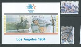 Belgium 1984 Los Angeles Olympic Games Miniature Sheet & Charity Pair MNH - Belgium
