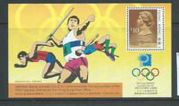 Hong Kong 1991 Olympic Games 1992 Miniature Sheet MNH - Hong Kong (...-1997)