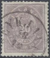 ICELAND 1876 20a VIOLET Nº 10 - 1873-1918 Dépendance Danoise