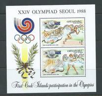 Aitutaki 1988 Seoul Olympic Games Miniature Sheet MNH - Aitutaki