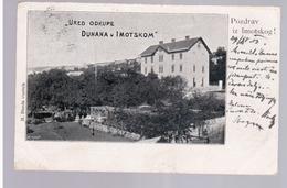 CROATIA Imotski Pozdrav Iz Imotskog! 1903 OLD POSTCARD 2 Scans - Kroatië