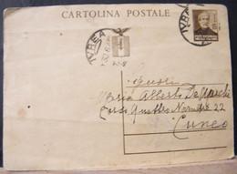 MONDOSORPRESA,(IP107) GIUSEPPE MAZZINI 30C. SEPPIA, ANNULLO IVREA - 4. 1944-45 Repubblica Sociale