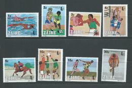Zaire 1985 Lausanne Olymphilex Set Of 8 MNH - Stamps