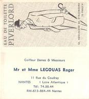 """¤¤  -  Calendrier De 1969  -  Eau De Toilette """" PIVERLORD """" De Paris  -  PARFUM  - Carte Parfumée  -  ¤¤ - Small : 1961-70"""
