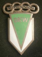 Car - DKW AUTO UNION  Vintage  Enamel Big Badge  - Size 37,5 X 54mm - Audi