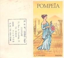 """¤¤  -  Calendrier De 1982  -  Eau De Toilette L.T. PIVER  """" POMPEÏA """"  De Paris  -  PARFUM  - Carte Parfumée  -  ¤¤ - Calendriers"""
