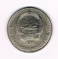 &  MONGOLIE  20 MONGO  1981 - Mongolia