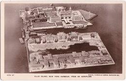 Pf. ELLIS ISLAND, New York Harbour, From An Aeroplane - Ellis Island