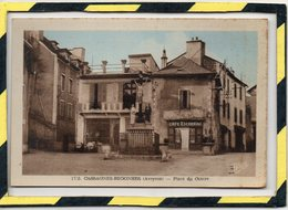 DPT 12 . - . AVEYRON -  CASSAGNES-BEGONHES  - PLACE DU CENTRE - CAFE ESCORBIAC - Other Municipalities