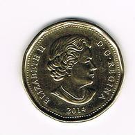 &  CANADA 1  DOLLAR  2014 - Canada