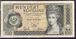 AUTRICHE, WPM 146, 2.01.1969, 100 Sh, TYPE ANGELIKA KAUFFMANN. (4B6) - Autriche