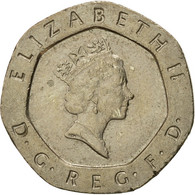 Monnaie, Grande-Bretagne, Elizabeth II, 20 Pence, 1990, TTB+, Copper-nickel - 1971-… : Monnaies Décimales