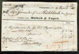 Baden / 1850 / Postschein Ortsdruck CARLSRUHE Und So-Stempel CARLSRUHE (14309) - [1] ...-1849 Precursores