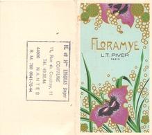 """¤¤  -  Calendrier De 1978  -  Eau De Toilette L.T. PIVER  """" FLORAMYE """"  De Paris  -  PARFUM  - Carte Parfumée  -  ¤¤ - Calendriers"""