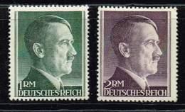 DR 1941, Michel# 799 + 800 B ** - Unused Stamps