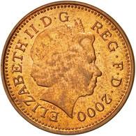 Monnaie, Grande-Bretagne, Elizabeth II, Penny, 2000, TTB, Copper Plated Steel - 1971-… : Monnaies Décimales