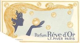 """¤¤  -  Carte Parfumée  -  Eau De Toilette L.T. PIVER  """" RÊVE D'OR """"  De Paris  -  PARFUM  -  ¤¤ - Perfume Cards"""