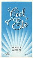 """¤¤  -  Carte Parfumée  -  Eau De Toilette L.T. PIVER  """" CIEL D'ETE """"  De Paris  -  PARFUM De Lumière  -  ¤¤ - Perfume Cards"""