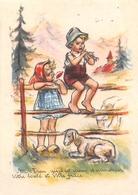 """¤¤  -   Illustrateur """" Germaine BOURET """"  -  Petite Image (format 5.5 X 8)  -  Enfants , Mouton    -  ¤¤ - Bouret, Germaine"""