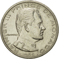 Monnaie, Monaco, Rainier III, 1/2 Franc, 1965, SUP, Nickel, KM:145, Gadoury:MC - Monaco