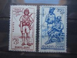 VEND BEAUX TIMBRES DE GUADELOUPE N° 159 + 160 , XX !!! - Oblitérés