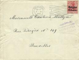 1915  Brief Van Antwerpen (met Inhoud In Nederlands) Naar Brussel Censuur Antwerpen - Weltkrieg 1914-18