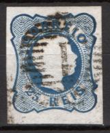 Portogallo 1856 25r. Unif.10 O/Used VF/F - 1855-1858 : D.Pedro V