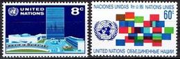 UNITED NATIONS # NEW YORK FROM 1971 STAMPWORLD 238-39* - New York - Sede De La Organización De Las NU