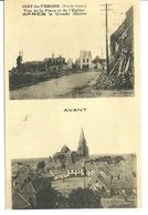 62 - OISY LE VERGER / VUE DE LA PLACE ET DE L'EGLISE - AVANT ET APRES GUERRE - Andere Gemeenten