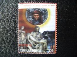 Gambia, Millennium, Lorenzo Medici, Art, Pieta, Michelangelo, Famous People,  2000 - Gambia (1965-...)
