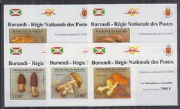 H22. Burundi - MNH - Plants - Mushrooms - Deluxe - Mushrooms