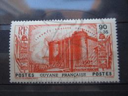 VEND BEAU TIMBRE DE GUYANE N° 154 , (X) !!! - Guyane Française (1886-1949)