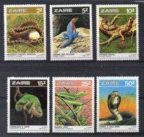 ZAIRE  Timbres Neufs ** De 1987   ( Ref 491C )  Animaux - Reptiles - Zaïre