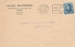 048/27 - JEUX OLYMPIQUES ANVERS 1920 - Lettre TP Casqué 25 C - Cachet Mécanique J.O GAND 3 Vers La France - Summer 1920: Antwerp