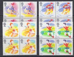 Great Britain 1988 Sports 4v Bl Of 4 ** Mnh (39919C) - 1952-.... (Elizabeth II)