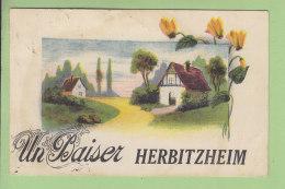 HERBITZHEIM : Un Baiser. 2 Scans. Edition M L - France