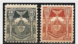 Filippine/Philippines: Stemma Di Manila, Arms De Manile, Coat Of Arms Of Manila, Francobolli Emessi Per Affrancare I Lin - Minerali