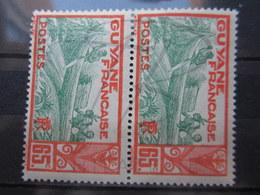 VEND BEAUX TIMBRES DE GUYANE N° 121 EN PAIRE , XX !!! - Frans-Guyana (1886-1949)