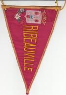 Rare FANION RIBEAUVILLE - BAS RHIN 67 - ROUGE - Obj. 'Remember Of'