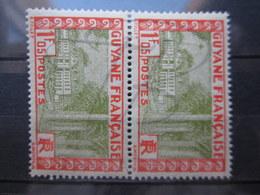 VEND BEAUX TIMBRES DE GUYANE N° 125 EN PAIRE , XX !!! - French Guiana (1886-1949)
